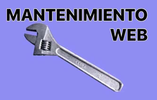 gestión y mantenimiento de páginas web