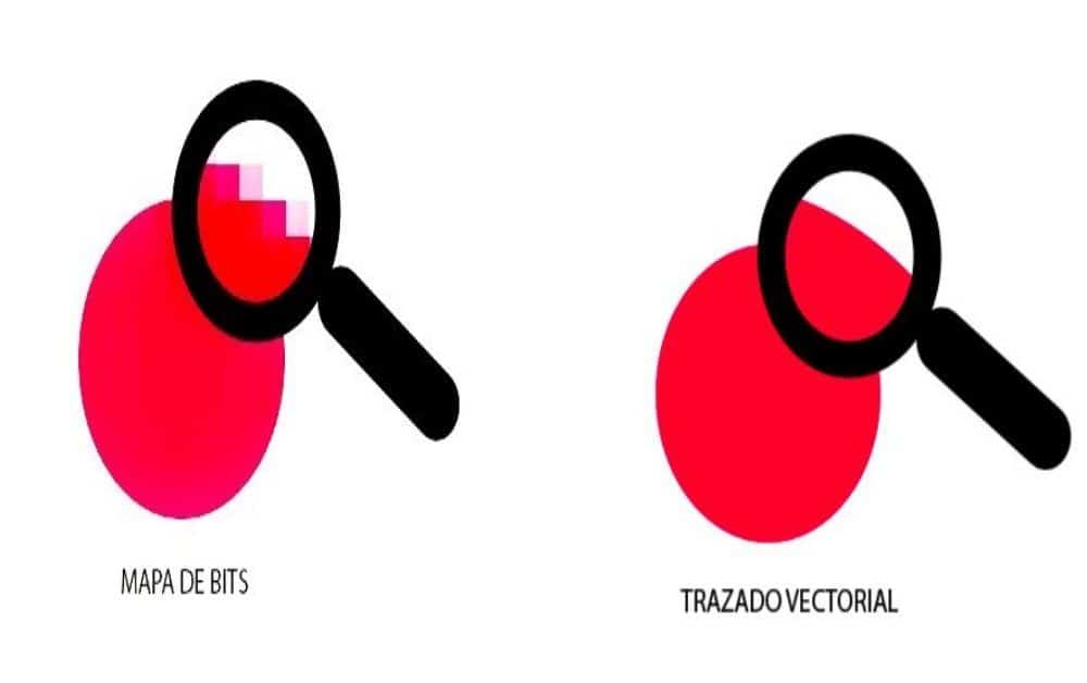 IMAGEN DE MAPA DE BITS Y TRAZO VECTORIAL