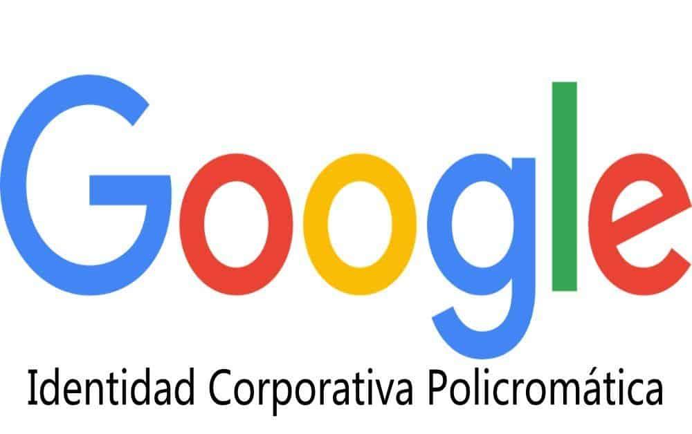 identidad corporativa policromática de letras google