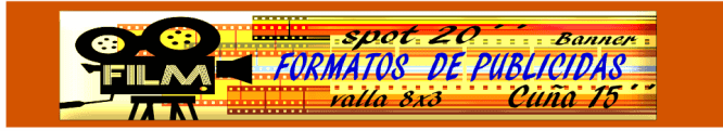 el banner típico formato de publicidad on line y off line