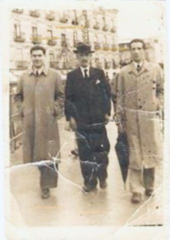 fotos antiguas de Oria oretano Joaquín Masegosa Rodriguez , padre y tío Andrés en Barcelona
