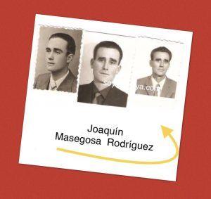 Tres fotos del tamño de carnet del oretano Joaquin masegosa rodriguez