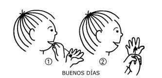 buenos días lenguaje de signos